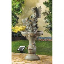 Fairy Pedestal Solar Water Fountain