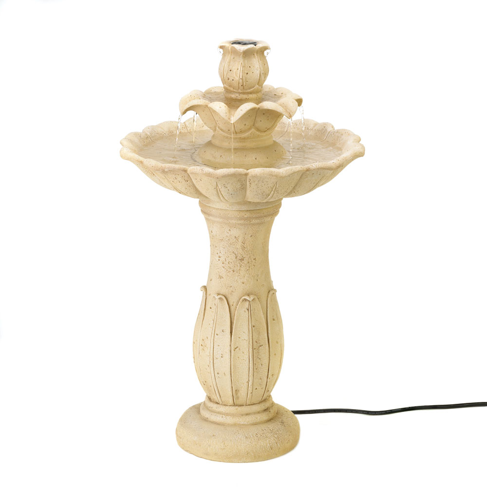 Lotus flower pedestal fountain garden statuary lotus flower pedestal fountain lotus flower pedestal fountain dhlflorist Images
