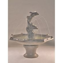 Flying Dolphins Tiered Water Fountain