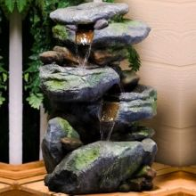 "Rock Falls 22"" Fountain with LED Light"