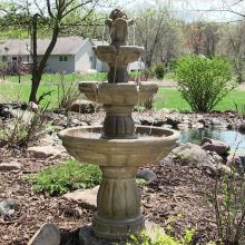"Three Tier 48"" Pedestal Water Fountain"