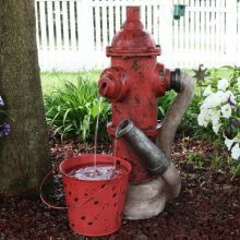 Bowersville Fire Hydrant & Pail Fountain