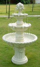 White Fruit Top 4-Tier Fountain