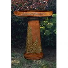 Wetland Fern Pedestal Bird Bath