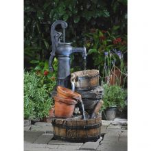 Classic Water Pump Fountain with LED Light