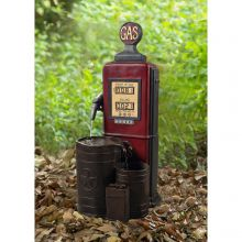 Vintage Gas Pump Water Fountain