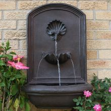 Dunnell Seaside Outdoor Wall Fountain (Material: Dark Brown)