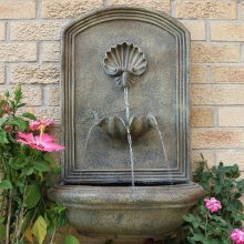 Dunnell Seaside Outdoor Wall Fountain (Material: Beige)