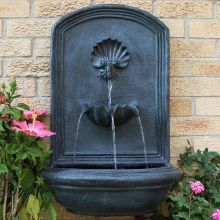 Dunnell Seaside Outdoor Wall Fountain (Material: Dark Gray)