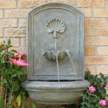 Dunnell Seaside Outdoor Wall Fountain (Material: Light Gray)