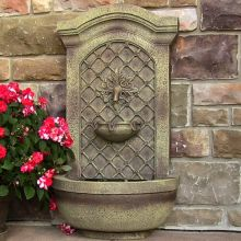 Leyland Leaf Rosette Garden Wall Fountain (Material: Beige)