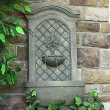 Leyland Leaf Rosette Garden Wall Fountain (Material: Light Gray)