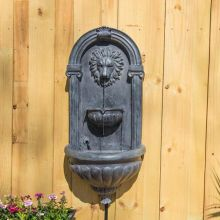 Royal Lion Outdoor LED Wall Fountain (Material: Zinc)